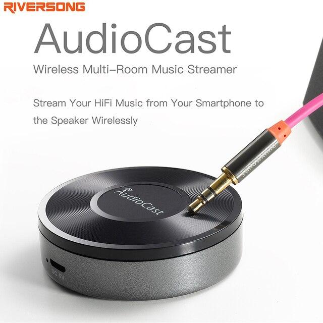 Беспроводной Адаптер Bluetooth AudioCast RIVERSONG Музыкальный Приемник iOS Android Airmusic Airplay DLNA WIFI HiFi Аудио Динамик