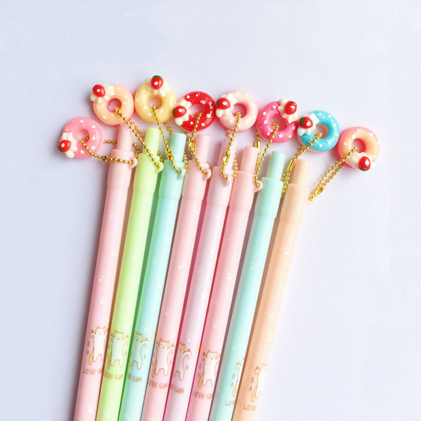 1pcs/lot Kawaii Donut Cat  Cartoon 0.5mm Mechanical Pencils funny studentsgift prize office school Stationery supplies