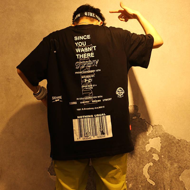 Fashion Letter Printed Short Sleeve T-Shirt Hip Hop Casual T Shirts 2019 Funny Summer Cotton Harajuku Tees Streetwear Tshirts
