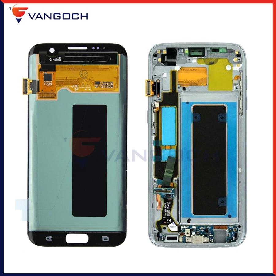 Assemblée originale superbe de numériseur d'écran tactile d'affichage à cristaux liquides d'amoled pour le remplacement d'affichage à cristaux liquides du bord g935 g935f g935fd de Samsung Galaxy S7