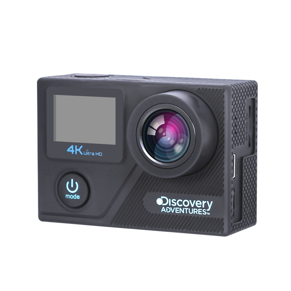 Real 4K action camera dash camera dual screens with A12 chipset and 1200MP Panasonic sensor