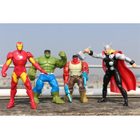 Avengers 3 Iron Man Thor Tom Holland Incredible Hulk DC Comics 4pcs/set PVC Action Figure Collectible Model Toy Doll L2058
