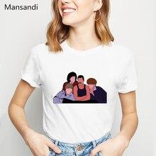 Funny Freddie Mercury t shirt women clothes 2019 the queen band cartoon printed tshirt femme Hip Hop Retro Rock female t-shirt
