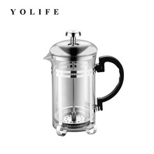 قهوه دستی اسپرسو ساز گلدان شیشه ای استنلس استیل ساز کافه فرانسوی قهوه قهوه Barista فیلتر فیلتر