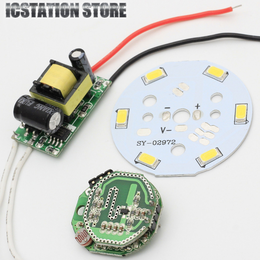 Microwave Radar Sensor Module 3W LED Light Control Smart Switch With Power Supply Suits