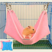 Warm Flannel Hamster Hammock Guinea Pig Rabbit Hanging Bed Cage Accessories For Small Pet Hamaca(China)