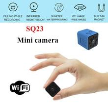 Nova mini câmera sq23 hd wifi pequeno 1080p grande angular câmera cam à prova dwaterproof água mini filmadora sq13 dvr vídeo esporte micro filmadoras