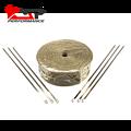 Kingsun 1''x50' titanium calor escape downpipe manifold header calor envoltório laços de fita térmica & inoxidável