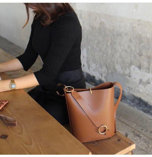 18638381d6e2 Jollque леди мягкая кожаная сумка высокое качество женская сумка Элитный  бренд сумки Сумка-мешок модные женские туфли сумка-мешок   с Алиэкспресс    Отзывы ...