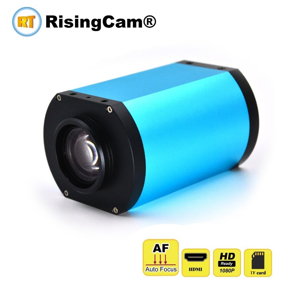 Autofocus 1080p 60fps SONY imx307 CMOS sensor microscope camera 1X 14X Zoom lens HDMI Auto focus