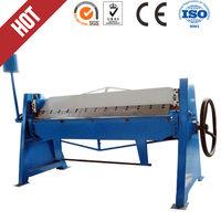 Square duct cramp folding machine , manual square tube press brake , pipe bending machine