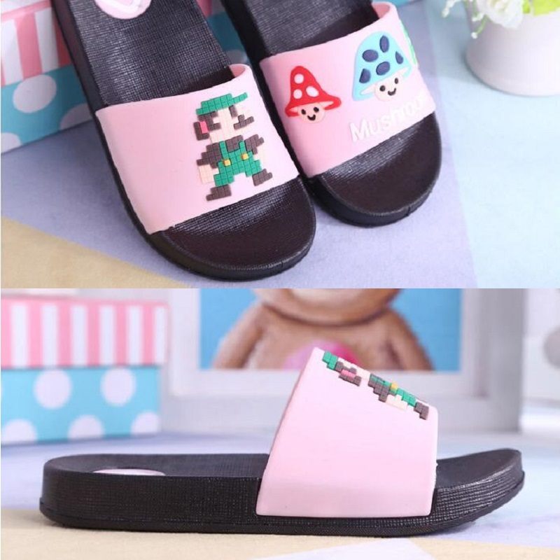 Child Casual Summer Home Slipper Soft Sole Cartoon Mushroom Pattern For Girls And Boys Fashion Sand beach Barefoot Water Shoes