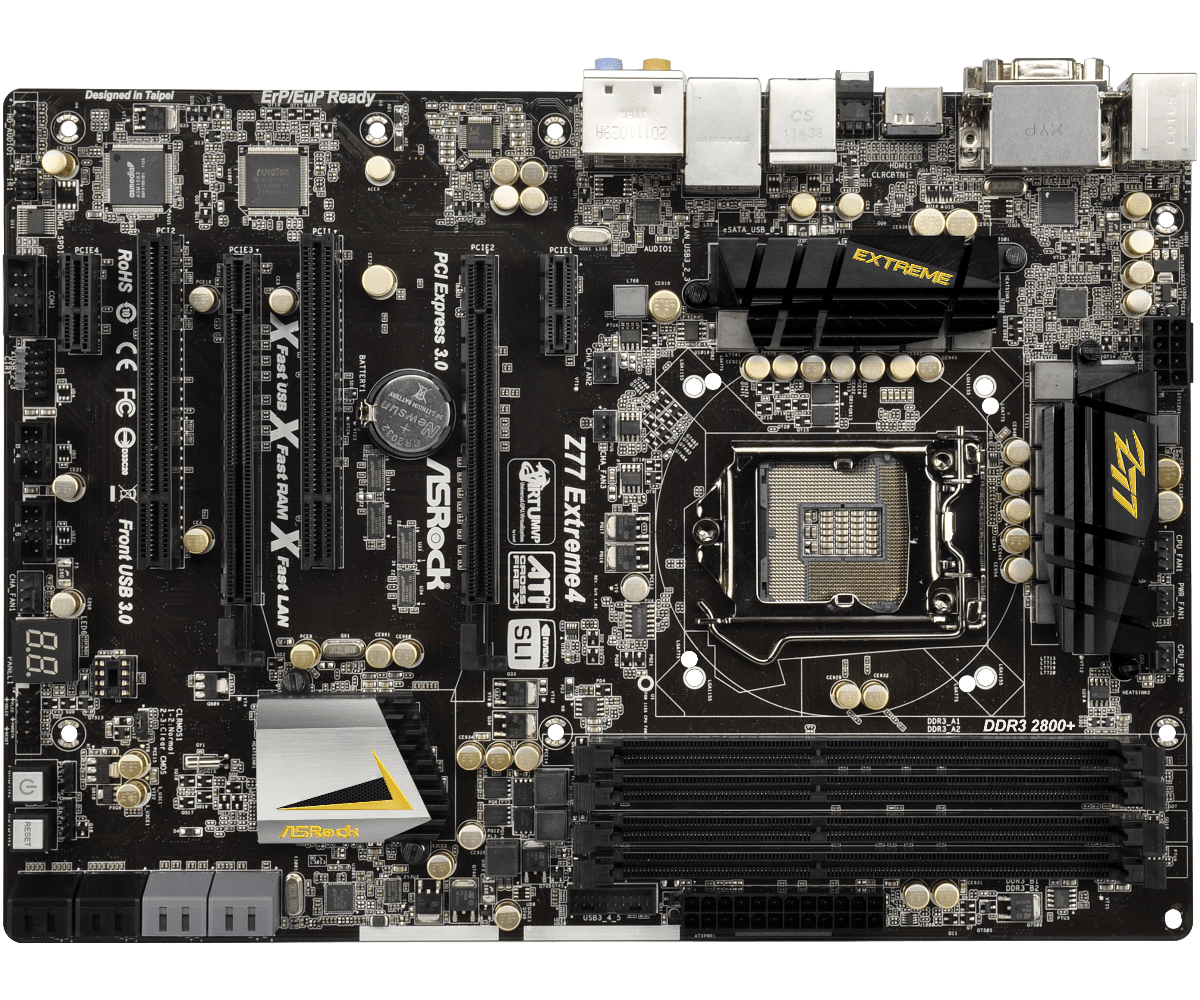 купить Used, ASRock Z77 Extreme4 Z77 Overclocking Motherboard 14 Phase Power Supply недорого