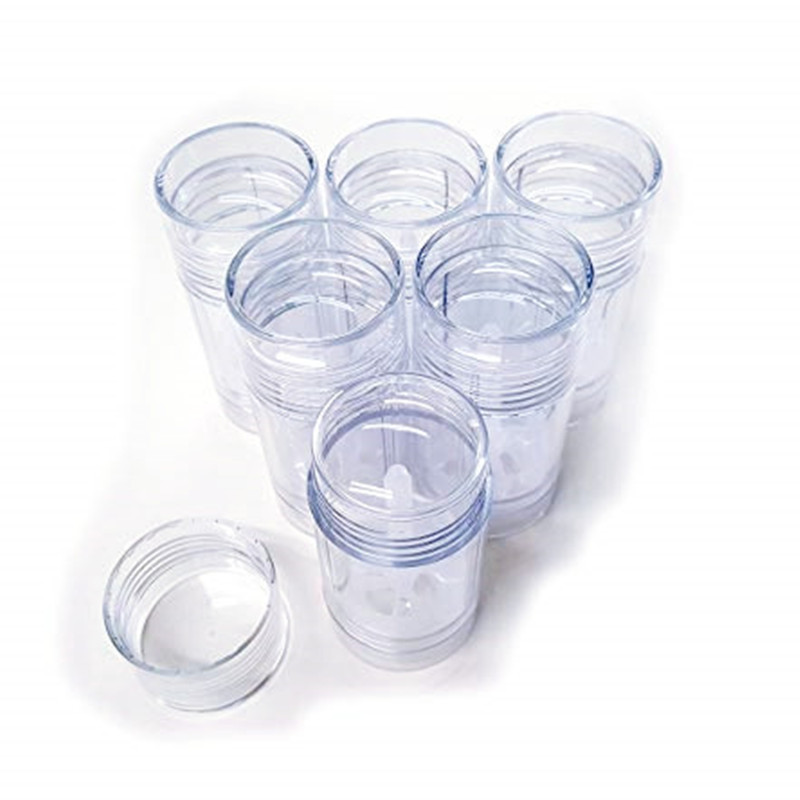Купить с кэшбэком Free shipping 10PCS/lot 50ml 1.7oz Plastic AS Clear Deodorant Stick 50ml Transparent Plastic Personal Care Container Tubes 50ml