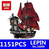 Caribbean Queen Anne S Reveage Model LEPIN 16009 1151Pcs Pirates Of Kids Educational Building Blocks Brick