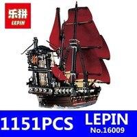 Caribbean Queen Anne S Reveage Model LEPIN 16009 1151Pcs Pirates Of Kids Educational Building Blocks Brick