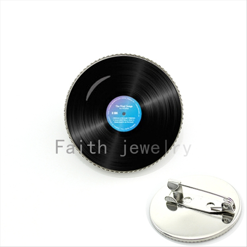 Vinyl disc Brooches Music Brooches men Brooch Pin Buckle Women College souvenir clothing accessories exquisite gifts KC150