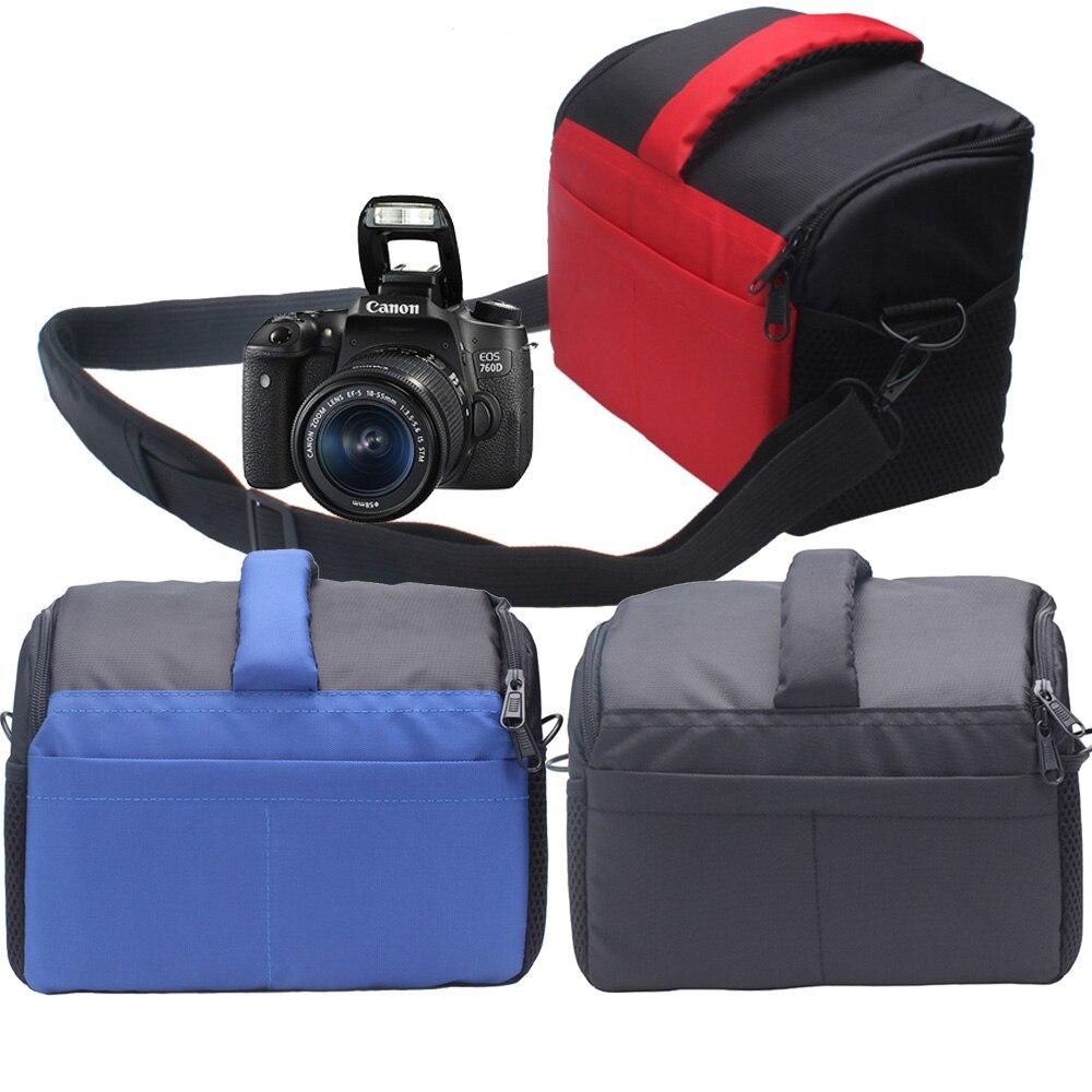 New DSLR Camera Bag Case For Canon EOS 600D 650D 750D 760D 700D 5D 6D2 60D 70D 7D2 5DS 5D2 5D3 5D4 1300D 1000D 1100D 1200D 550D high quality silicone camera cover for canon 6d 6d2 5d4 1300d 77d 80d 650d 700d 5diii soft rubber camera case skin for canon