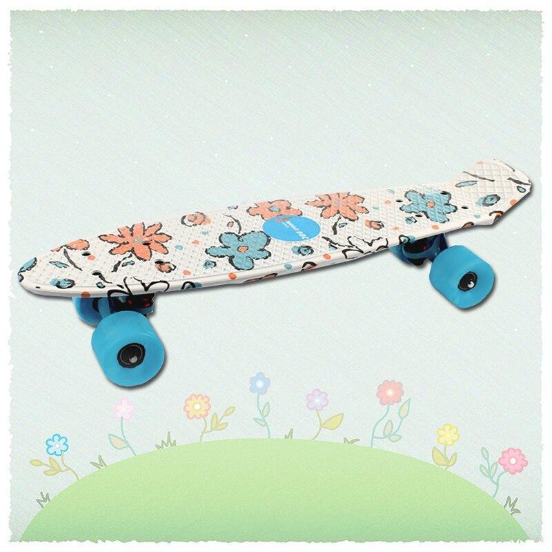 Рыбы доска скейтборд доски пены мяты 22 pnny Стиль скейтборд полный Пластик мини Лонгборд мини Cruiser Пластик скейт