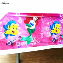 108x180cm little Mermaid Birthday Party Decorations Tablecloth  Decoration Table Cloth