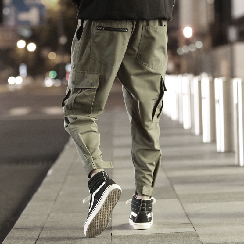 Men's Clothing Cargo Pants Harajuku Joggers Pants Men Army Green High Street Loose Hip Hop Casual Pants Male Cargo Fashion Japanese Style Y1341