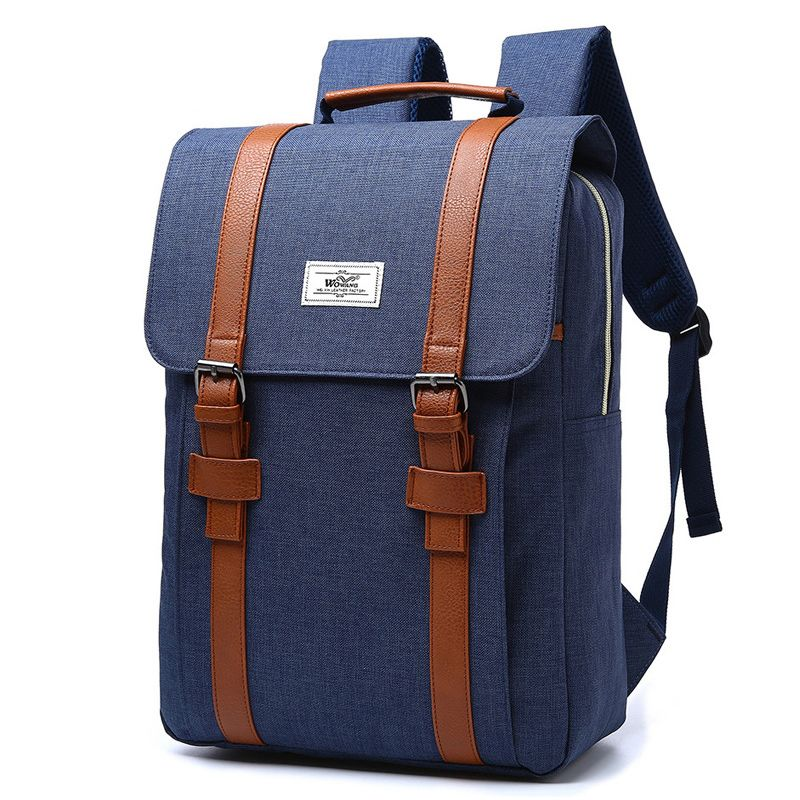 2017 Vintage Men Women Canvas Backpacks School Bags For -5989