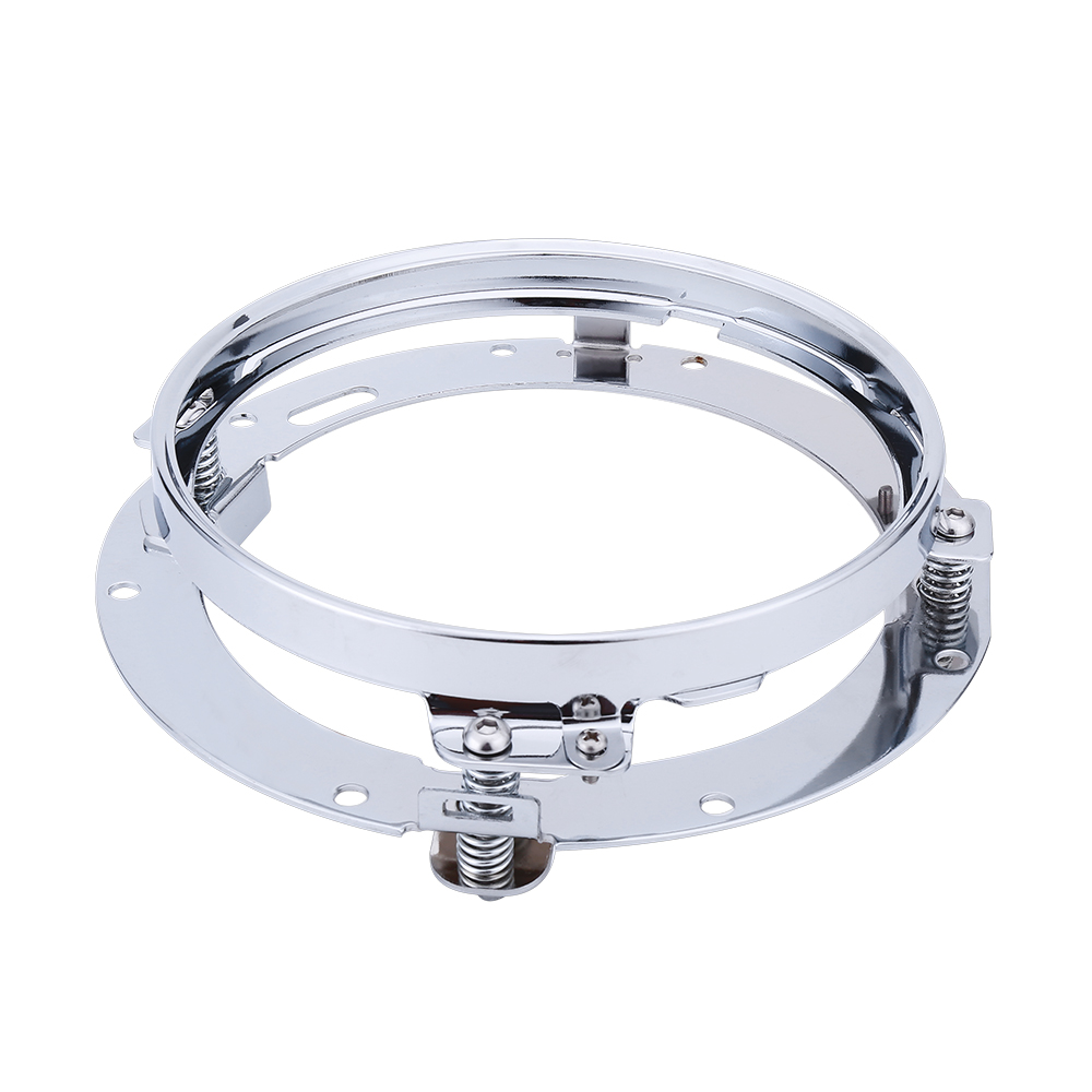 7 Inch Motorcycle LED Headlight Adapter Mounting Ring Bracket Head Lamp Daymaker Round Moto Light Holder For Harley usb3 0 round type panel mounting usb connecter silver surface