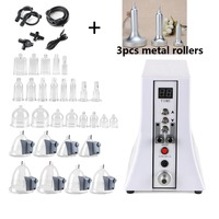 Electric vacuum therapi machine Lymph Drainage/Face Slimming/breast enlarger beauty instrument enhancing cupping+3pcs Rollers
