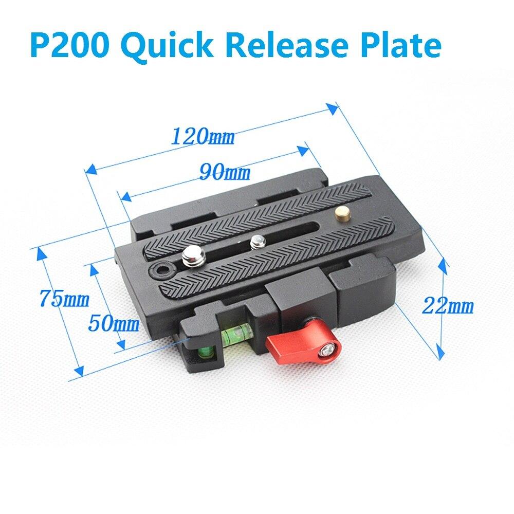 Camera font b Tripod b font Monopod P200 QR Aluminium Alloy Clamp Adapter Quick Release Plate
