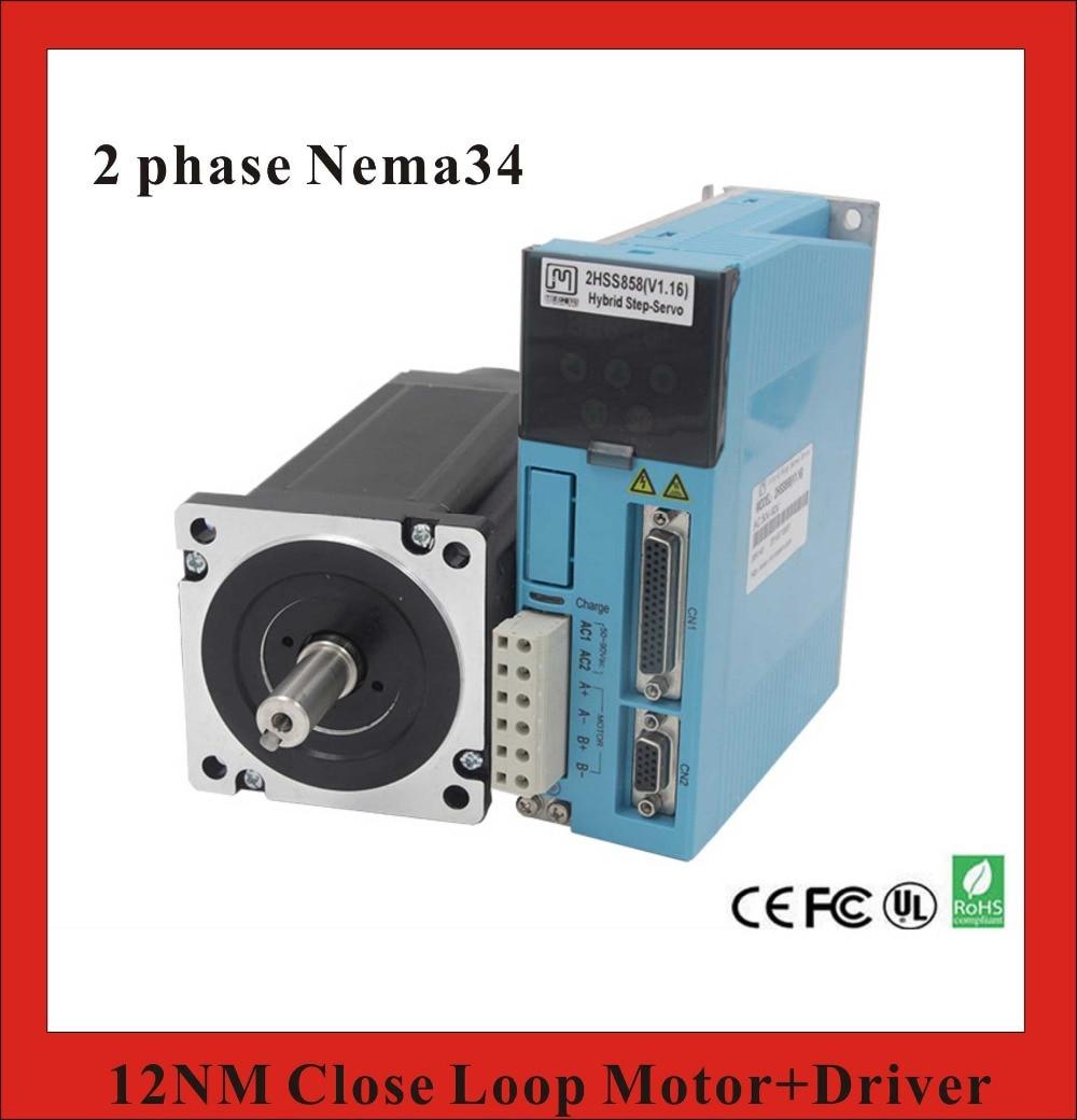 2 Phase 12n.M Closed Loop Stepper Servo Motor Driver Kit 86j18156ec 1000+2hss858h Cnc Machine Motor Driver