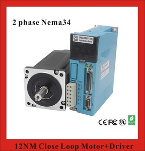 2 phase 12N.m Closed Loop Stepper Servo Motor Driver Kit 86J18156EC-1000+2HSS858H CNC Machine Motor Driver