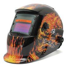 font b Best b font Vivacious Skull Head Flame Solar Auto Darkening Welding Helmet Mask