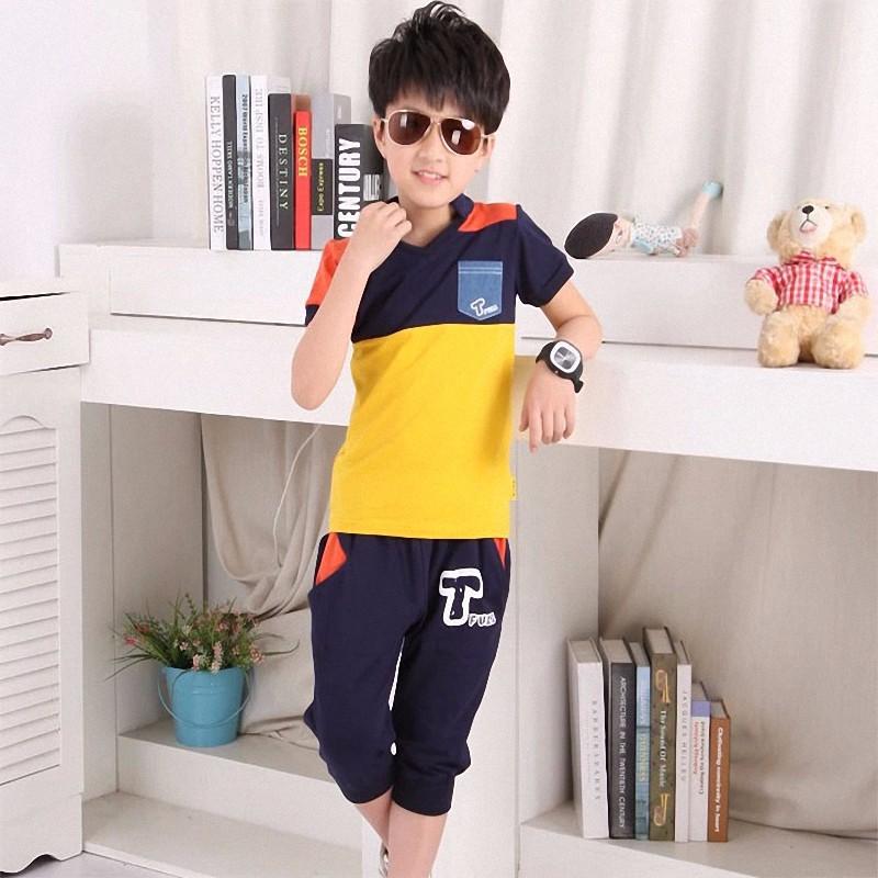 boy sport stripe clothing set (3)