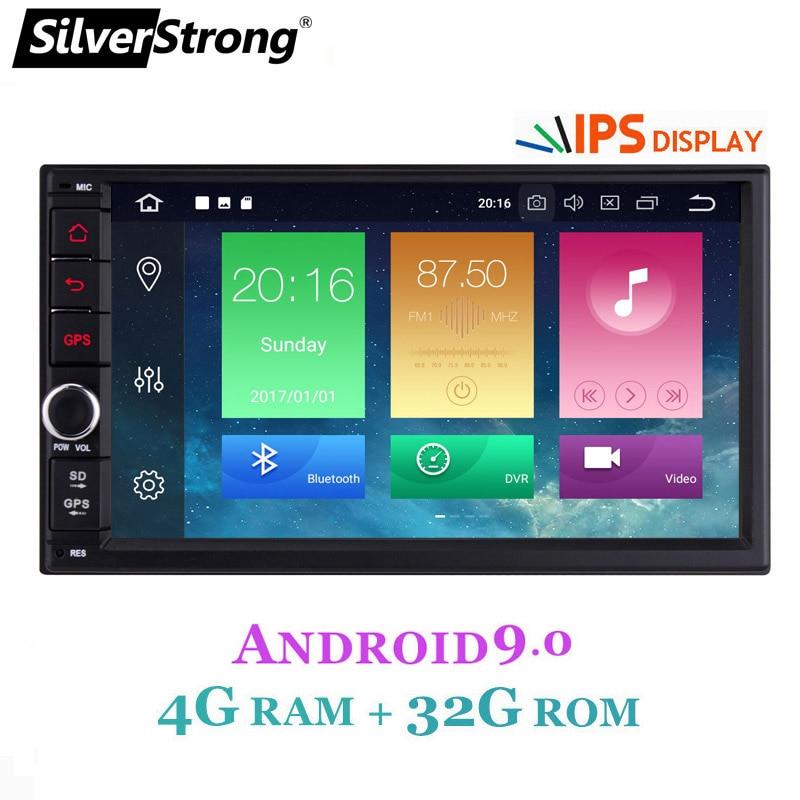 SilverStrong IPS Android9.0 Universal 2din Carro DVD OctaCore 4G 32G DSP Duplo DIN Rádio Do Carro Do GPS Autoradio TPMS 706x30-x5