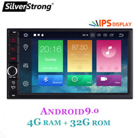 SilverStrong ips Android9.0 Универсальный 2din автомобильный DVD OctaCore 4G 32G DSP двойной DIN Автомобильный gps Радио авторадио TPMS 706x30 x5