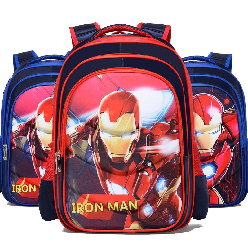2019 New Iron Man Captain America Boy Girl Children Kindergarten School bag Teenager Schoolbags Kids Student Backpacks|School Bags|Luggage & Bags -