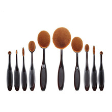 High Quality 10pcs Beauty Toothbrush Shaped Foundation Power Makeup Tools Oval Puff Brushes Set Eyebrow Eyeliner Lip Oval Cream