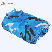 LOOGU EM 2M*3M Blue Camouflage Mesh Net Camo Netting Car Beach Tent Covers Tents Outdoor Camping Trap Awaning Sun Shelter