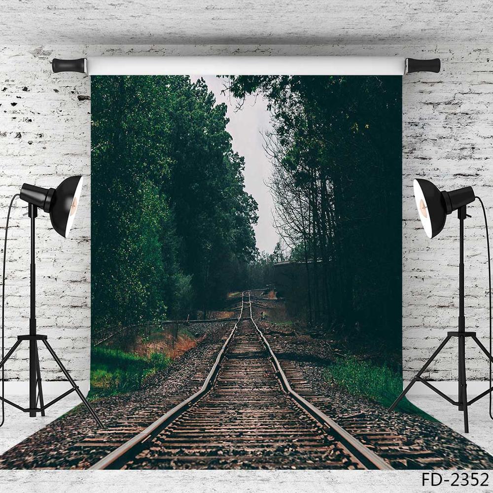 Фотофон для студийной фотосъемки с изображением железной дороги сумерек из винила и ткани|Фон| | - AliExpress