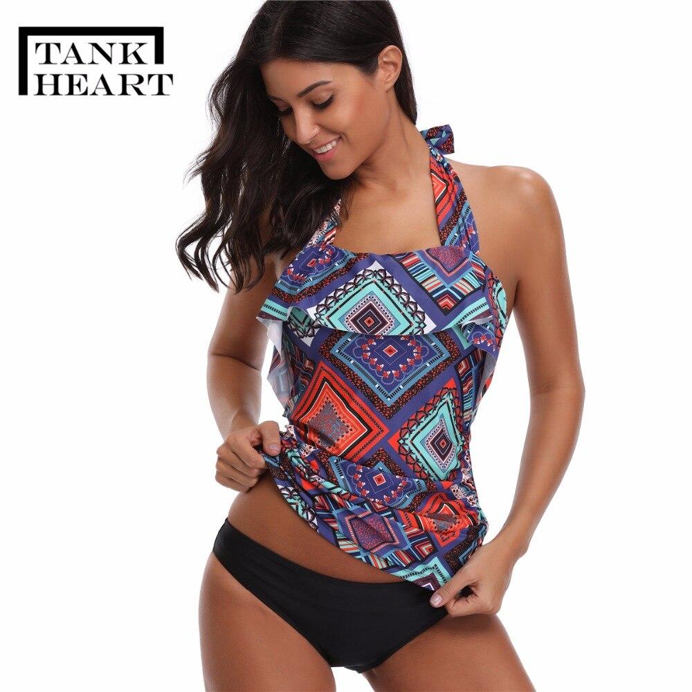 Falbala Tankini Swimsuits Women Plus Size Swimwear Large Sizes Poto Sexi Two Piece Swimsuit Women Badpak Swim Suit Vacation Sets