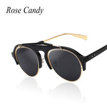 2754f9c852a Rose Candy Brand Pilot Sunglasses Hippie Sunglasses Men Women Fashion Oval  Jade Sun Glasses Male Female High Quality