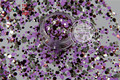 RFM321-205  Mix Colors Dot shapes round  Glitter for nail art ,nail gel, nail polish makeup and DIY decoration