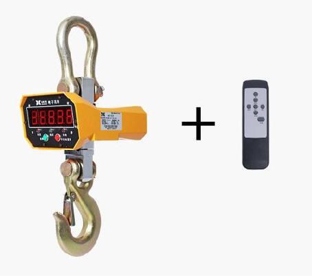 Escala de Elevação Remoto sem Fio Ocs Digital Display Vermelho ou Verde Escudo Alumínio Controle Industrial Pesando Escala Guindaste 5 t – 5000 kg