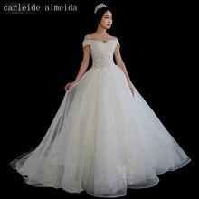 Vestido de Noiva Off-the-Ombro vestido de Baile Lace Vestido De Noiva Ver Através Corpete Sexy Robe de Mariee 2018 Bruidsjurken