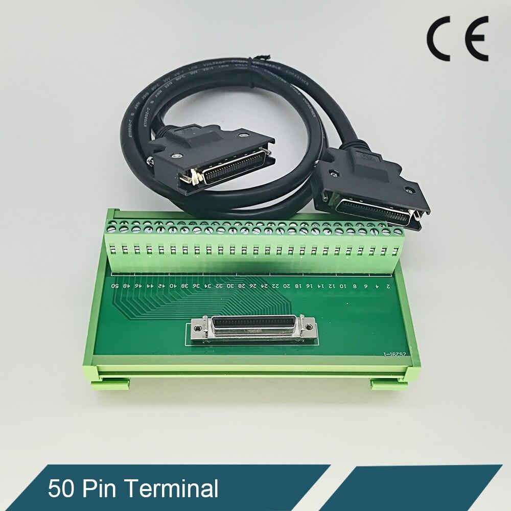 Advantech Adaptateur SCSI 50 Broches bornier connexions Bloc carte avec câble 50 cm 100 cm