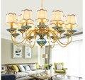 Американский Скандинавский подвесной светильник  роскошная бронзовая керамическая декоративная антикварная люстра для гостиной спальни  ...