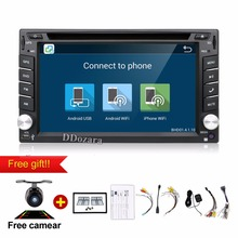 android 6.0 car dvd player 2 din radio car stereo audio gps navigation wifi camera steering wheel control 3g tv (option)
