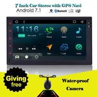 2 din Car Stereo EinCar 7'' Android 7.1 Double din Quad Core FM/AM Radio GPS Navigation Head Unit Bluetooth Wifi OBD2/4G/DAB