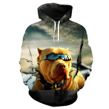 3D dog print Hip-hop fashion hoodie