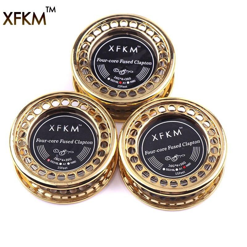 XFKM 5 m/roll-core fuso clapton Filo di Riscaldamento RTA RDA Atomizzatore Clapton Fili Premade Bobina Strumento Sigaretta Elettronica accessori